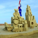 Sand Sculptures in Progress at Hampton Beach
